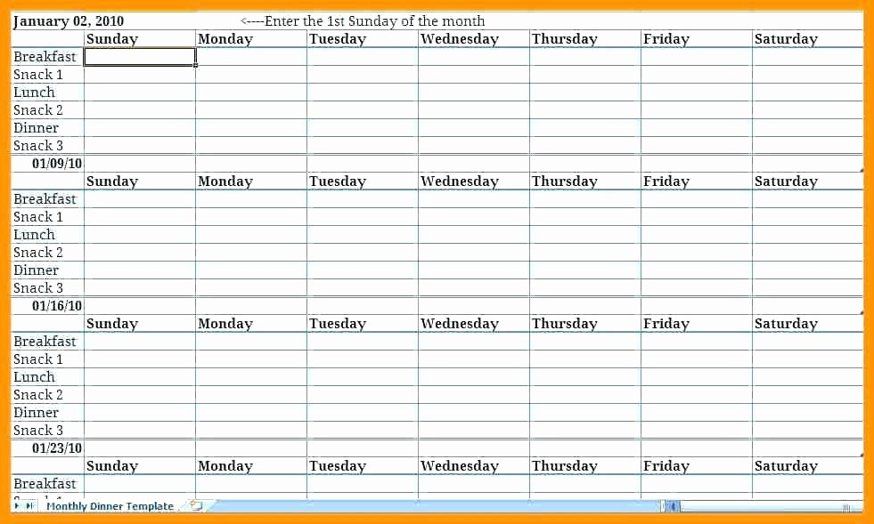 Weekly Meal Plan Template Excel Luxury Weekly Meal Planner Template Excel Meal Planner Excel Meal