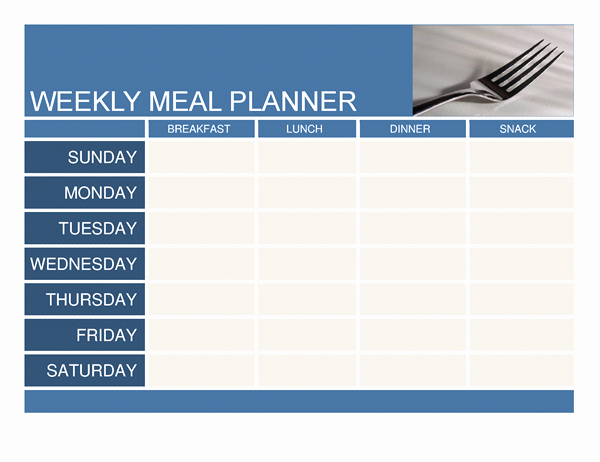 Weekly Meal Plan Template Inspirational Planners and Trackers Fice