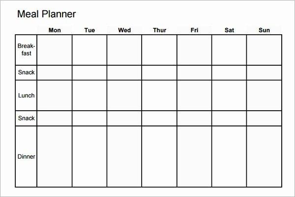 Weekly Meal Plan Template Word Best Of 45 Printable Weekly Meal Planner Templates