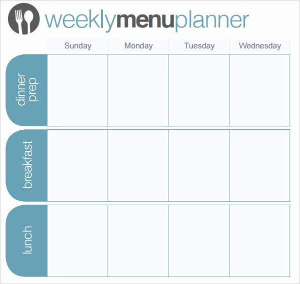 Weekly Meal Plan Template Word Elegant 24 Menu Planner Template Doc Psd Pdf Eps Indesign
