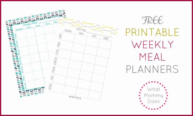 Weekly Meal Plan Template Word Inspirational Free Printable Weekly Meal Plan Template What Mommy Does