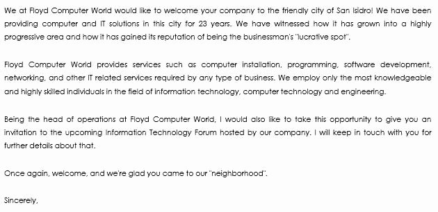 Welcome to the Neighborhood Letter From Business Elegant 10 Wel E Letter Examples to Wel E New Members