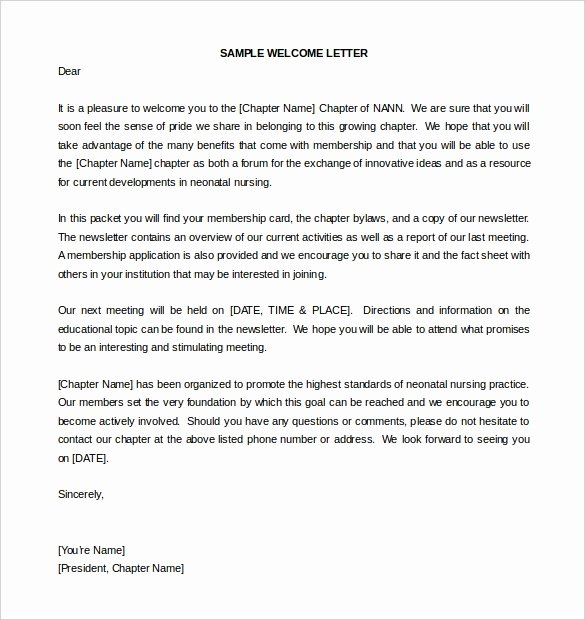 Welcome to the Neighborhood Letter From Business Elegant 21 Hr Wel E Letter Templates Doc Pdf