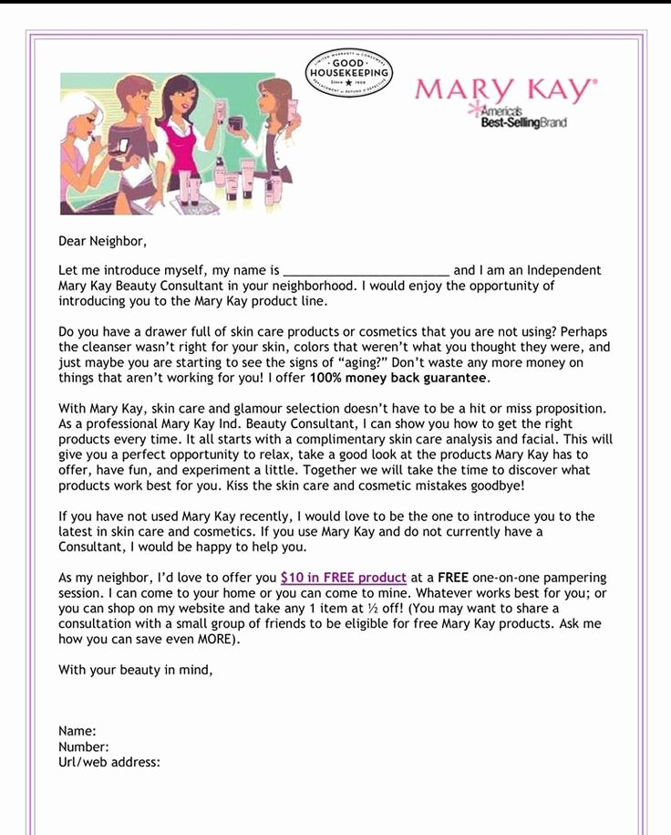 Welcome to the Neighborhood Letter From Business Inspirational Letter to Neighbors Mary Kay Business Pinterest