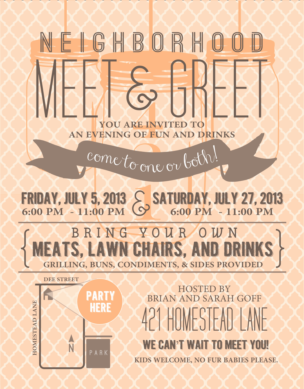 Welcome to the Neighborhood Letter From Business Luxury Signatures by Sarah Meet N Greet Party Invitation and