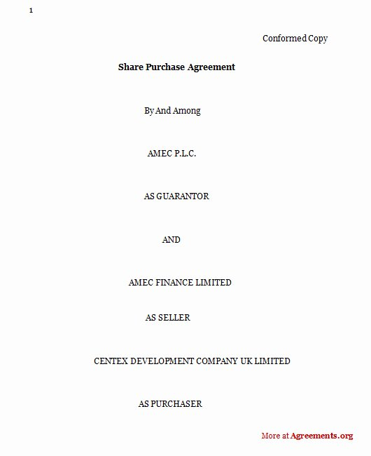 Well Share Agreement Fresh Purchase Agreement Sample Purchase Agreement