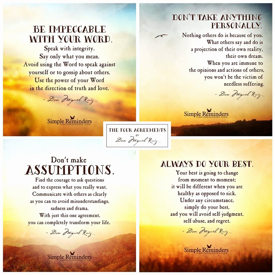 Well Share Agreement Luxury the Four Agreements by Don Miguel Ruiz Traditional