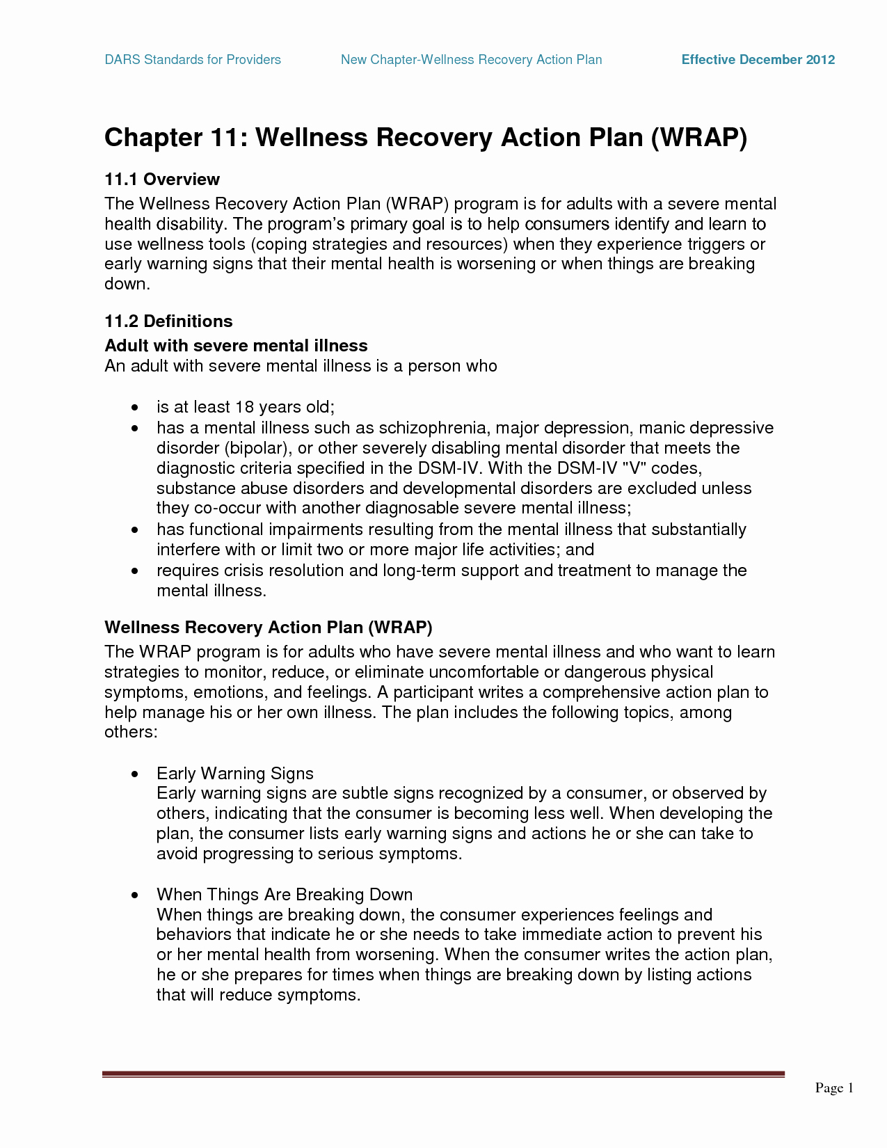 Wellness Recovery Action Plan Template Lovely Wrap Mental Health