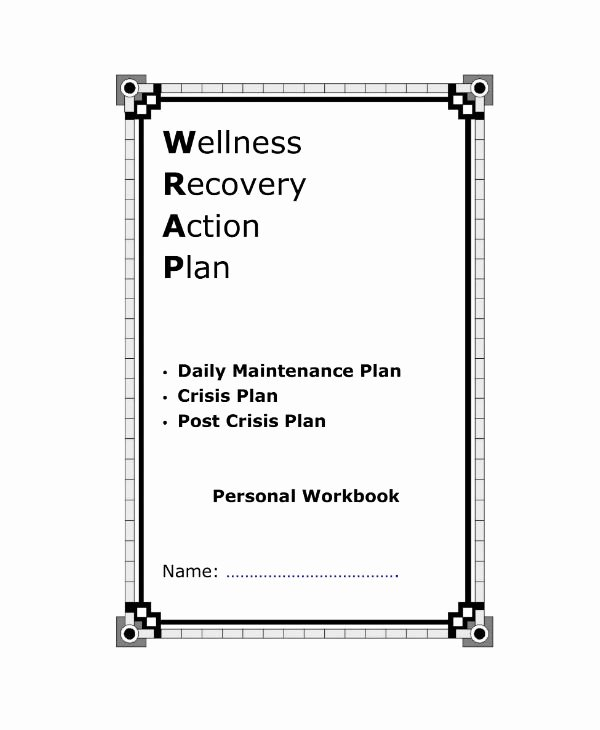 Wellness Recovery Action Plan Template Luxury 10 Wellness Recovery Action Plan Templates Pdf