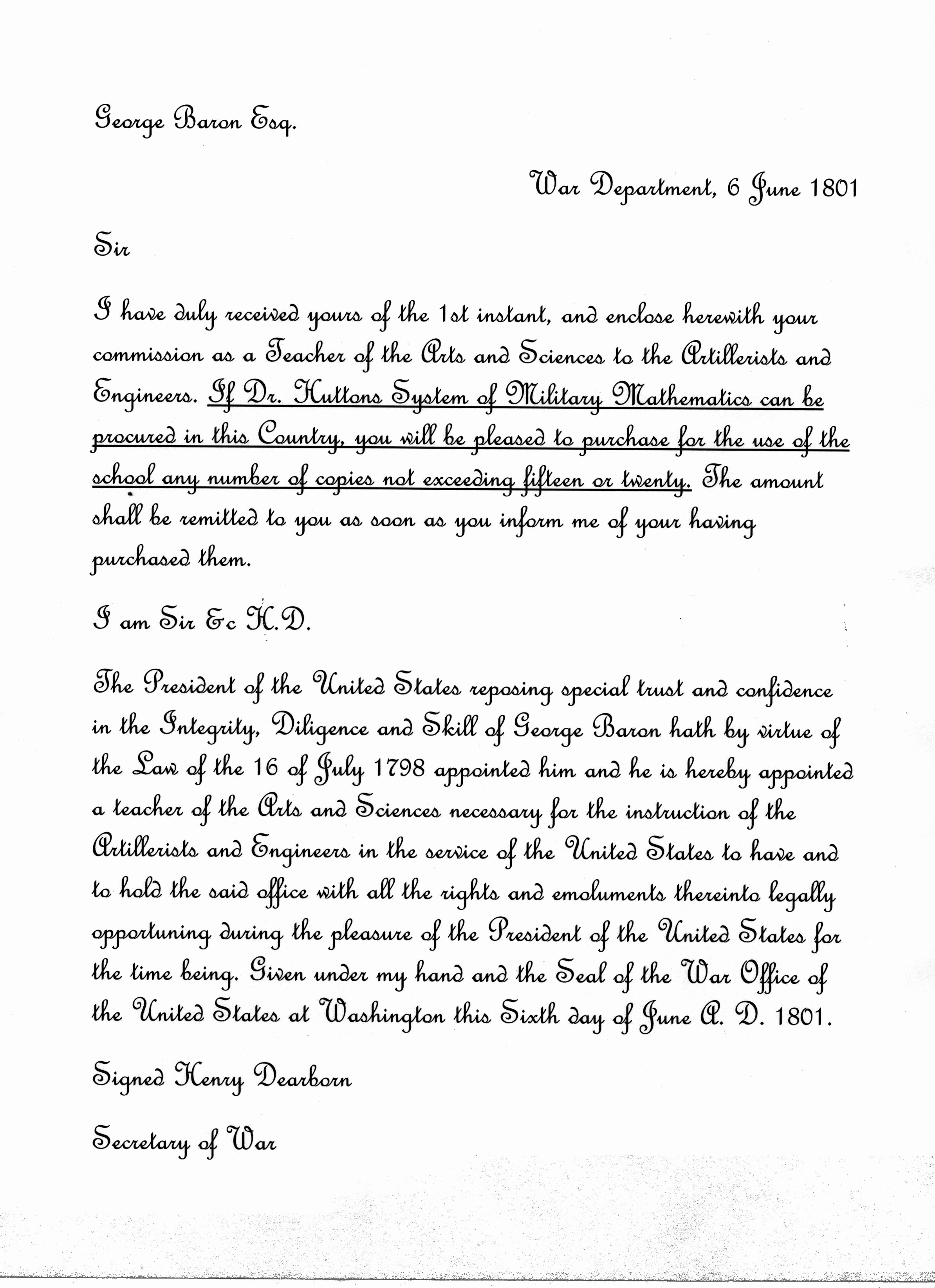 West Point Letter Of Recommendation Inspirational Mathematics Education at West Point the First Hundred Years