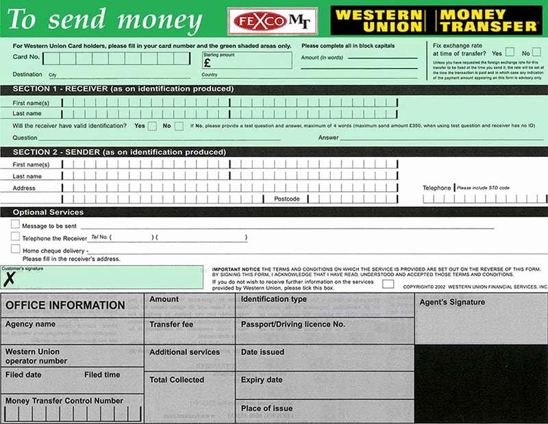 Western Union Fake Receipt Generator Inspirational Western Union Send form