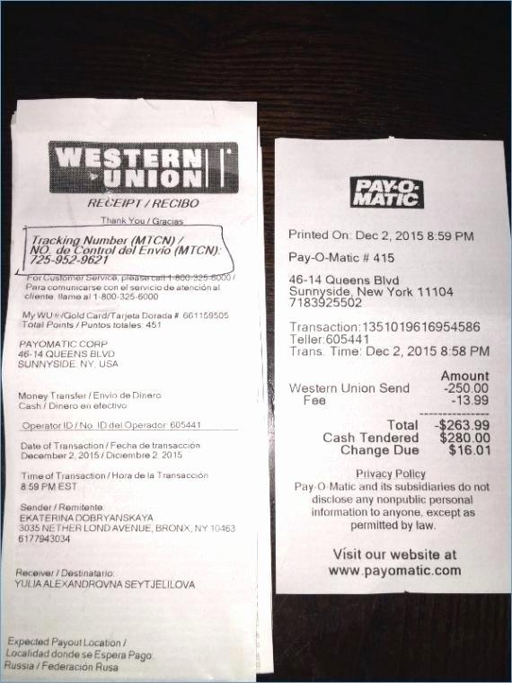 Western Union Fake Receipt Generator Lovely Western Union Receipts – Samplethatub