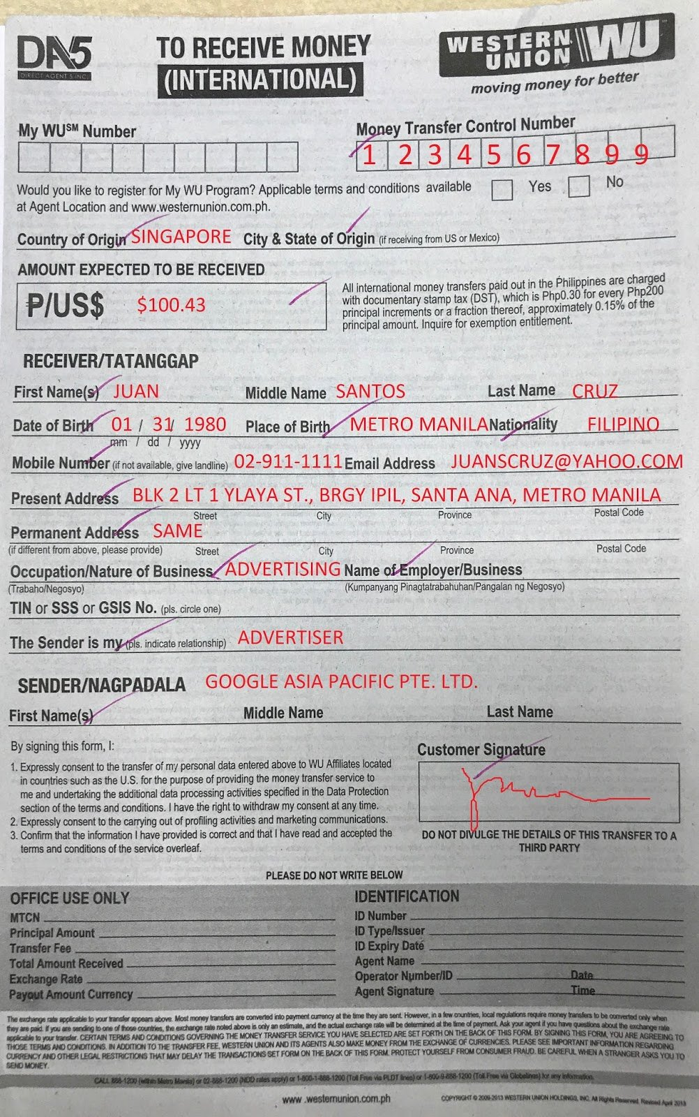 Western Union Receipt Sample Beautiful How to Claim Your Google Adsense Payment Via Western Union