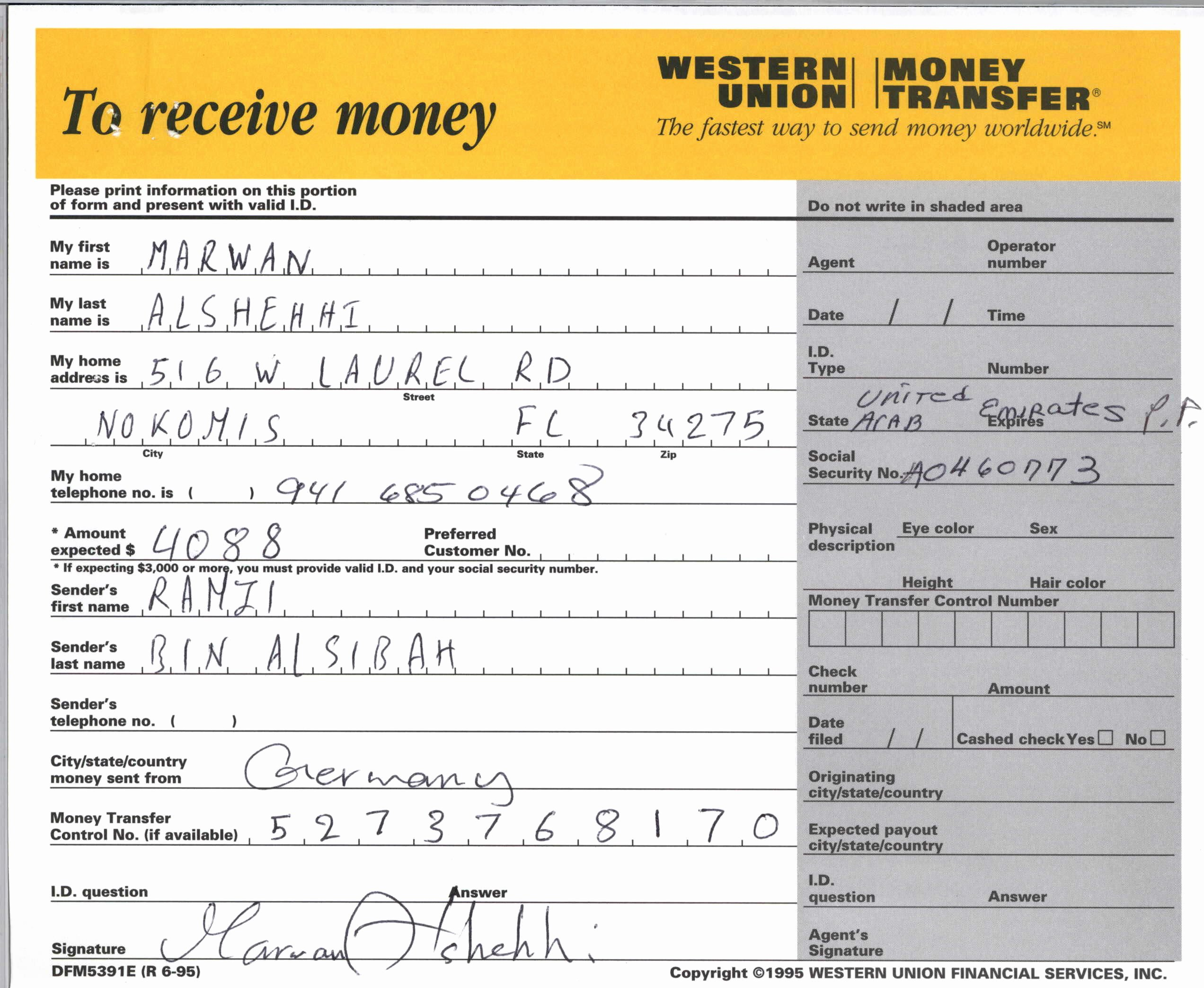 Western Union Receipt Sample Inspirational Searchitfast Web Western Union Money Transfer Receipt