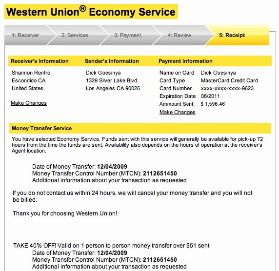Western Union Receipt Sample Lovely How Not to Make It