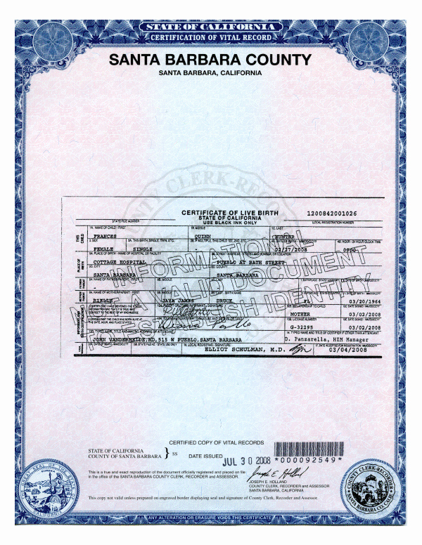 What Does A California Birth Certificate Look Like Awesome Certified Copy Of Birth Certificate Cikes Daola