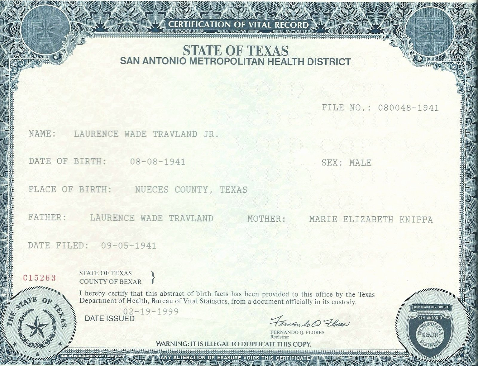 What Does A California Birth Certificate Look Like New Travland Ancestry