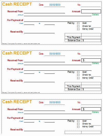 What is A Cash Receipt Fresh Receipt Template