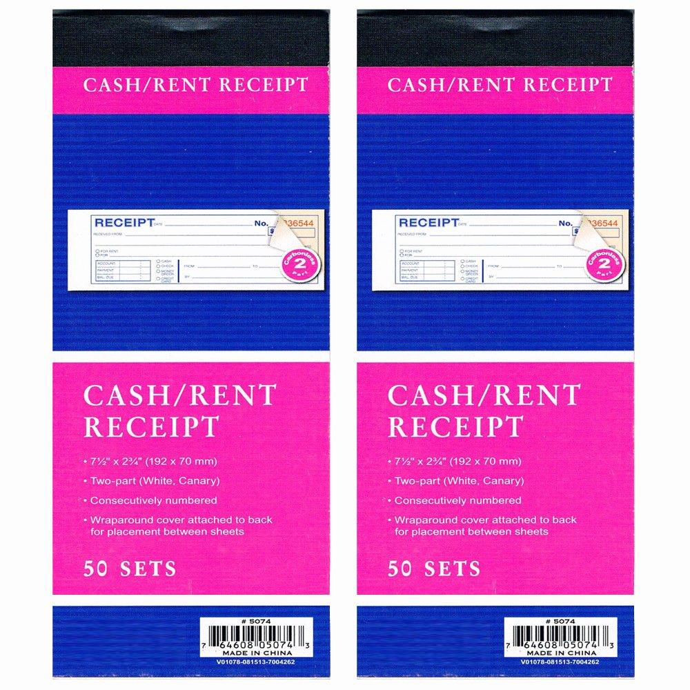 Where to Buy Receipt Book Fresh 2 Cash Rent Carbonless Receipt Book 2 Part 50 Set Money