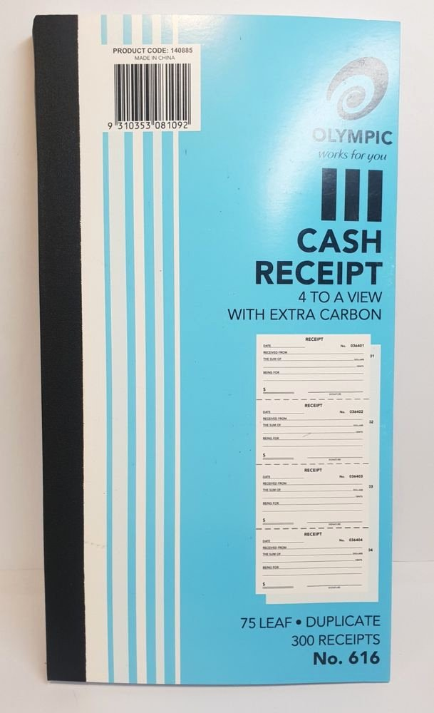 Where to Buy Receipt Book Inspirational Olympic 616 Duplicate Cash Receipt Book – Ao