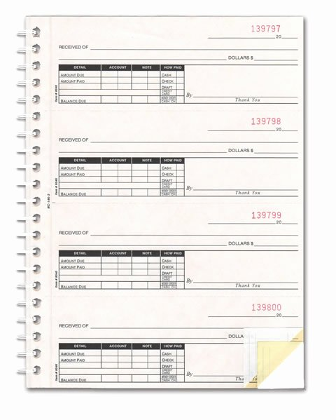 Where to Buy Receipt Book Lovely Buy Cash Receipt Books 2 3 or 4 Part Estampe