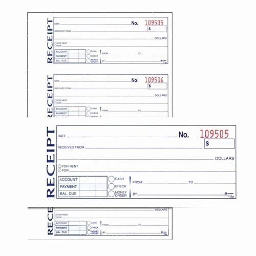 Where to Buy Receipt Book New Adams Receipt Book Tc1182