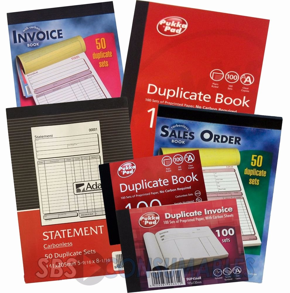 Where to Buy Receipt Book New Pukka Pad Ncr Duplicate Books Statement Credit Note