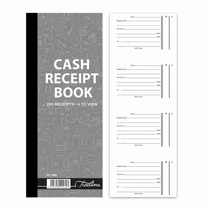Where to Buy Receipt Book New Treeline Cash Receipt Book 4 to View In Duplicate