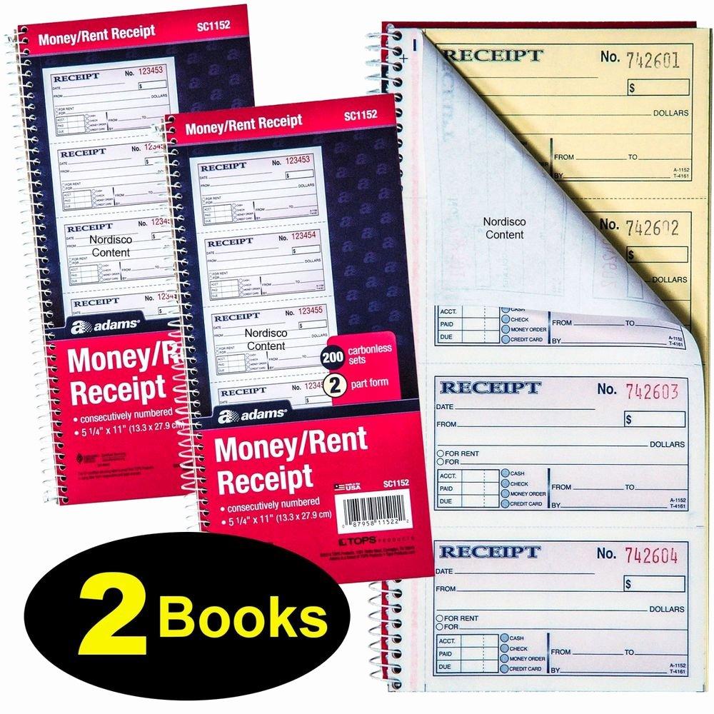 Where to Buy Receipt Book Unique 2 Books Adams Sc1152 Money Rent Receipt Book 2 Pt