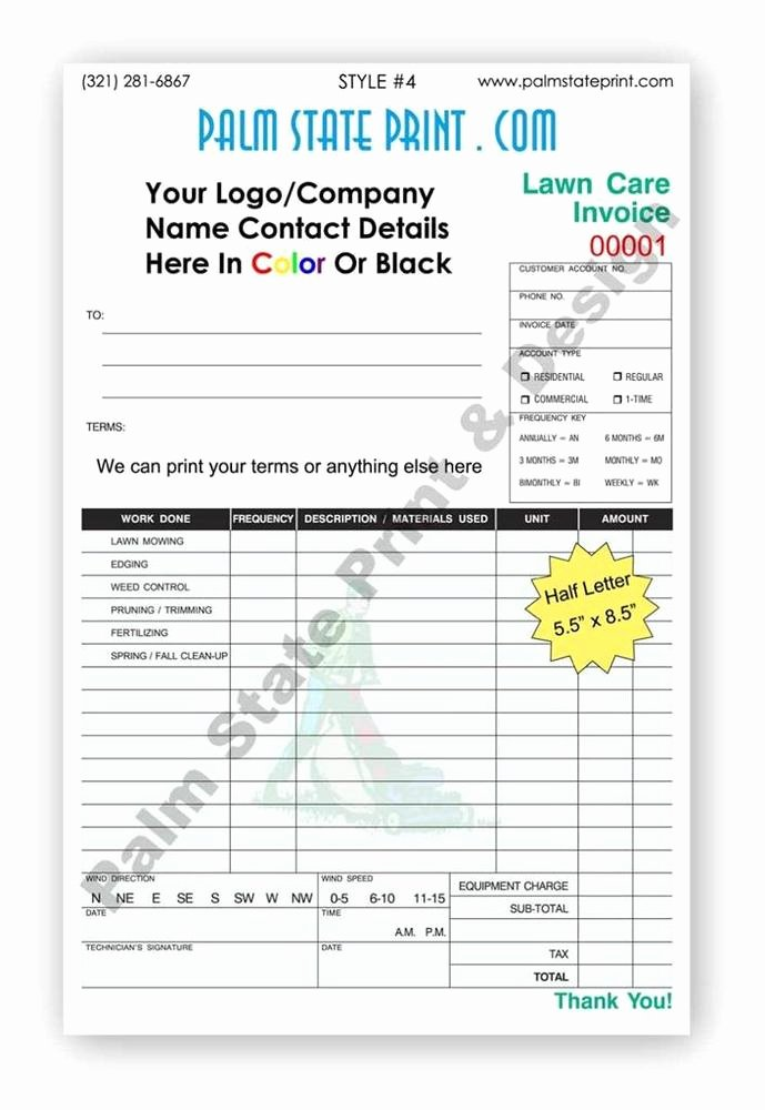 Where to Buy Receipt Book Unique 50 2 Part Small Landscaping Gardening Invoice Receipt Work