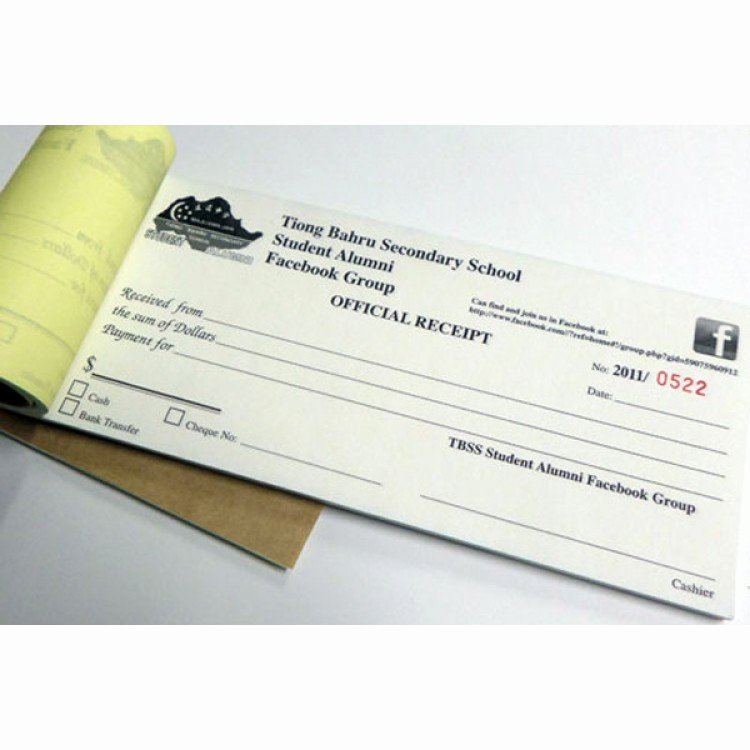 Where to Buy Receipt Books Awesome Receipt Book Customise form Printing In Singapore