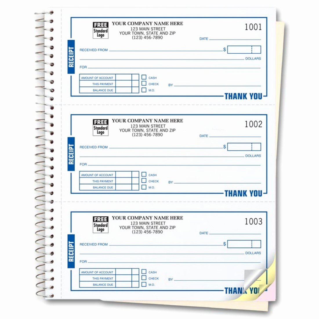 Where to Buy Receipt Books Awesome Spiral Bound Custom Receipt Book Printing