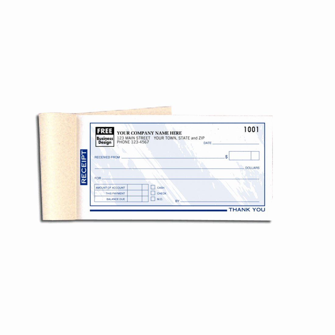 Where to Buy Receipt Books Elegant Colored Custom Business Receipt Books