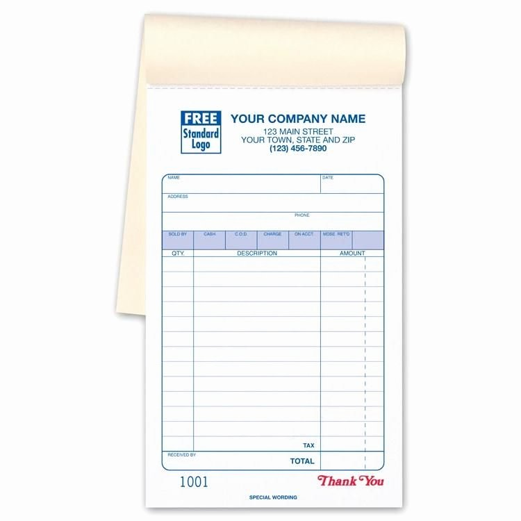 Where to Buy Receipt Books Fresh Sales Receipt Book Imprinted with Your Business