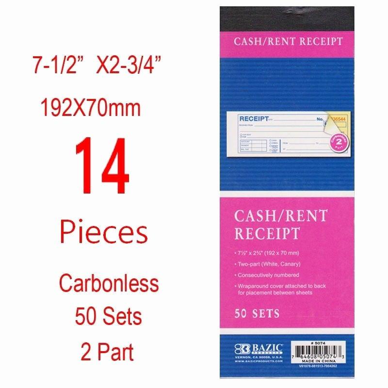 Where to Buy Receipt Books Inspirational 14 Pieces 2 Part Carbonless Cash Rent Receipt Books forms