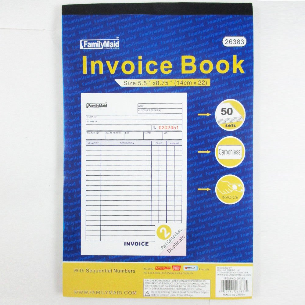Where to Buy Receipt Books Lovely 1 Carbonless Invoice Receipt Record Book 2 Part 50 Sets
