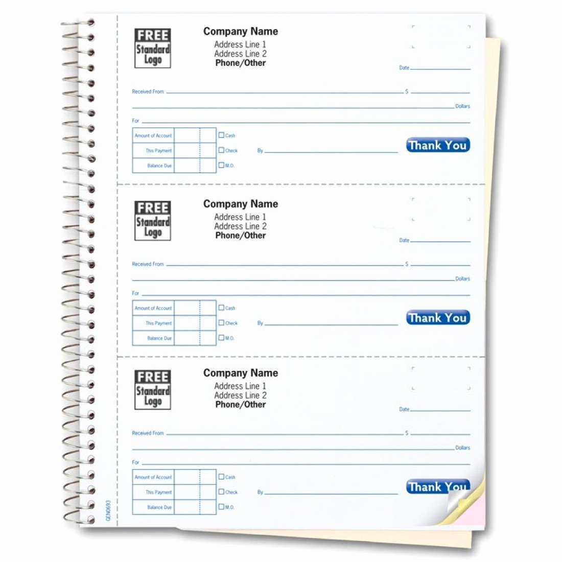 Where to Buy Receipt Books New 3 to A Page Cash Receipt Books Gen0693 at Print Ez