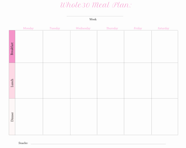Whole 30 Meal Plan Template Awesome How to Survive whole 30 without Losing Your Mind 7 Tips