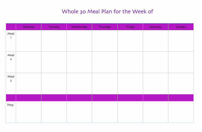 Whole 30 Meal Plan Template Best Of organizing My whole30 the organized Mama