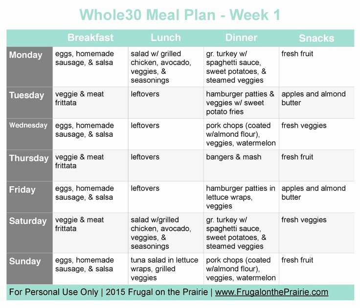Whole 30 Meal Plan Template Inspirational 25 Best Ideas About Weekly Bud On Pinterest