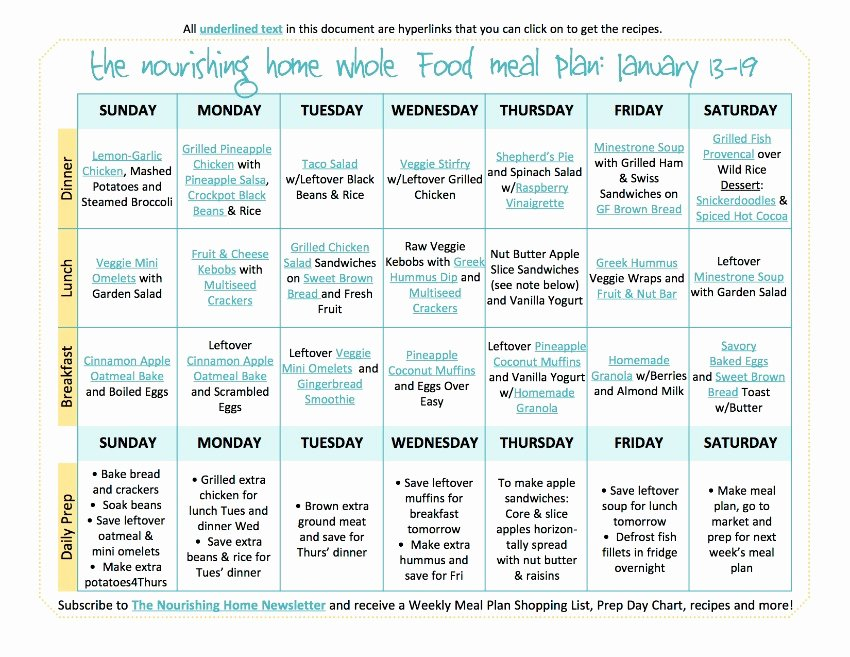 Whole 30 Meal Plan Template Unique Introducing Our New Bi Weekly Meal Plan — the Better Mom