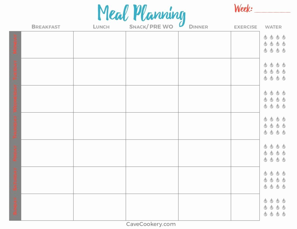 Whole30 Meal Plan Template Beautiful whole30 Round 2 – Cave Cookery