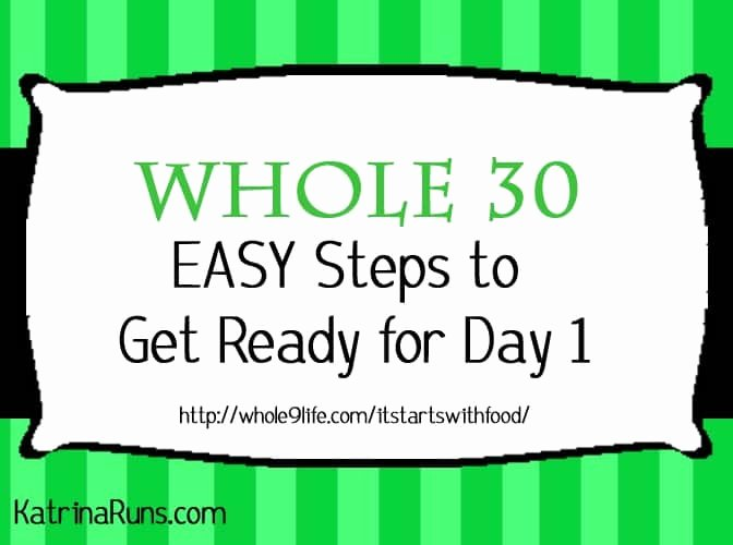 Whole30 Meal Plan Template Lovely the Fast Lane to whole 30 Katrina Runs for Food