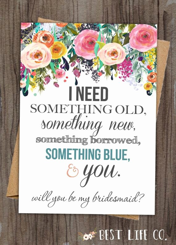 "Will You Be My Bridesmaid Letter Template Beautiful Set Of Will You Be My Bridesmaid ""the Rosie"" Maid Of Honor"