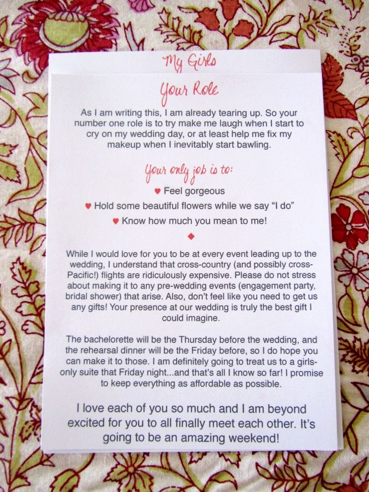 Will You Be My Bridesmaid Letter Template Best Of Love This It S Not High Maintenance and It Almost