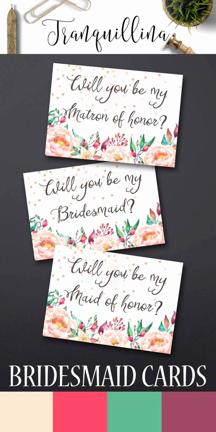 will you be my bridesmaid letter template
