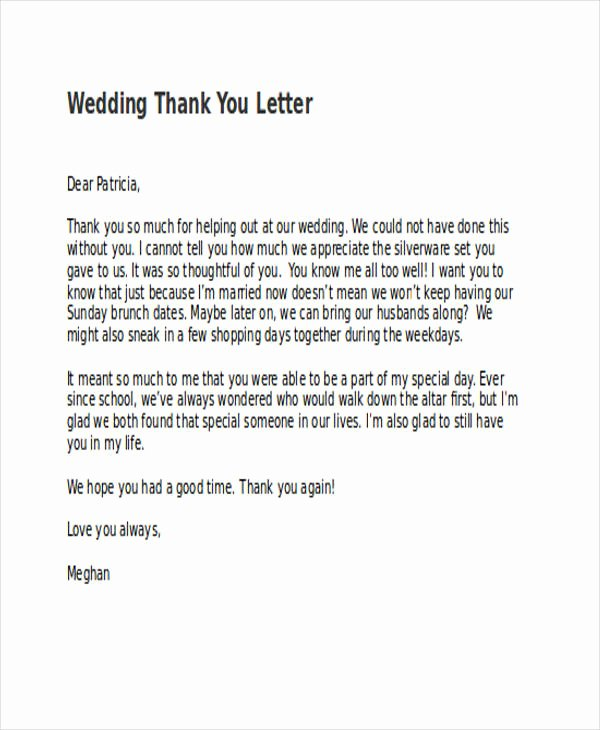 Will You Be My Bridesmaid Letter Template Inspirational 74 Thank You Letter Examples Doc Pdf