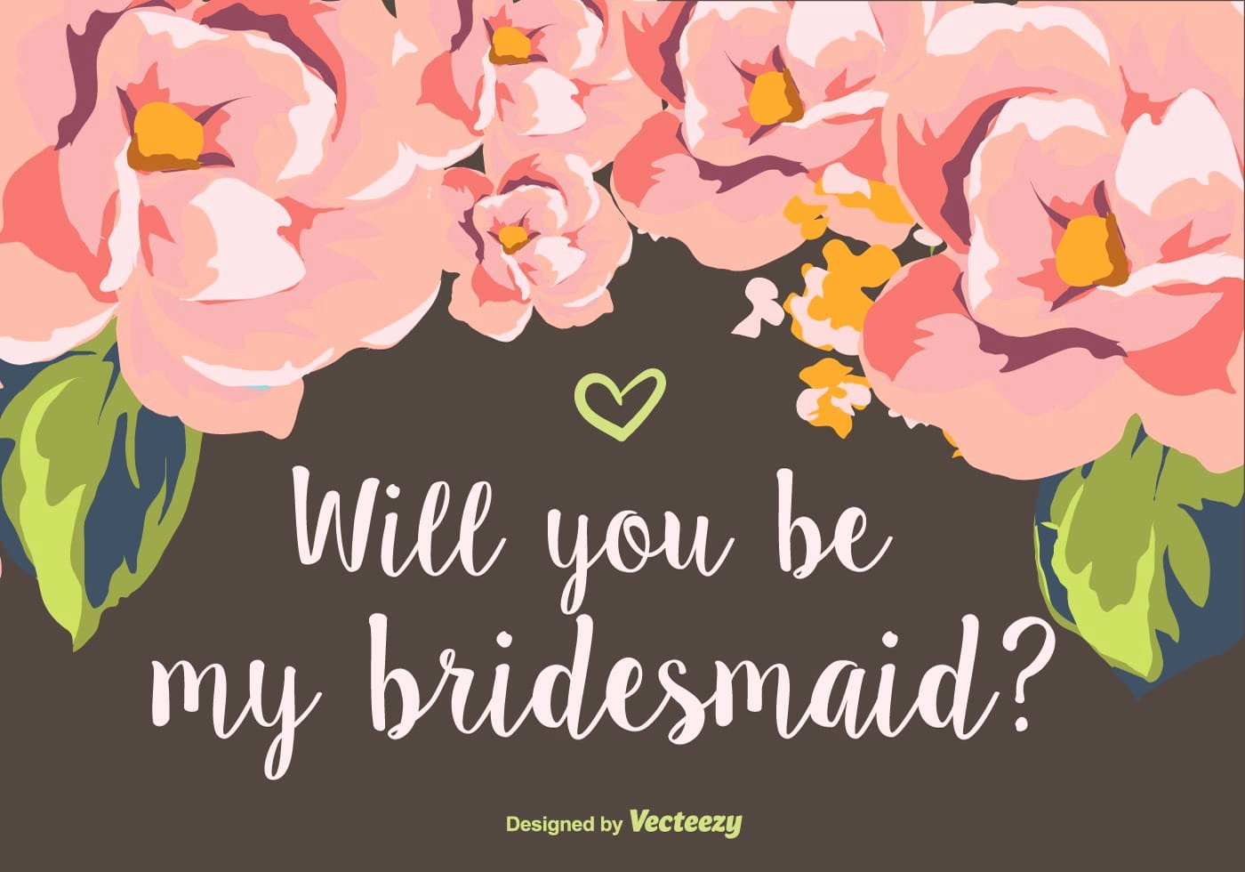 Will You Be My Bridesmaid Letter Template Inspirational Will You Be My Bridesmaid Download Free Vector Art