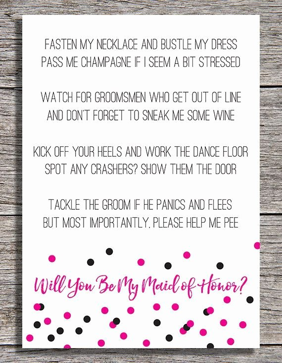 Will You Be My Bridesmaid Letter Template Luxury Image Result for Maid Of Honor Proposal Poem for Sister