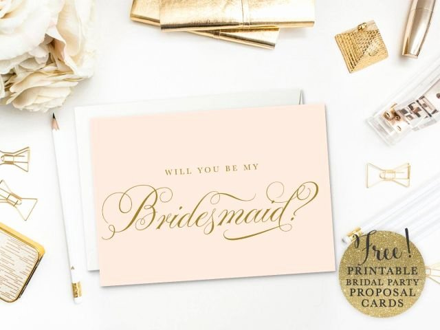 Will You Be My Bridesmaid Letter Template Unique Be My Bridesmaid Printable Cards